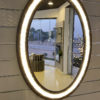 Wooden Frame Oval Mirror
