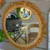 Natural Stone in gold mirror
