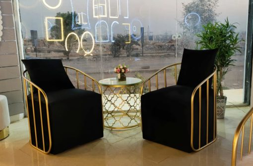2black Chair with Table